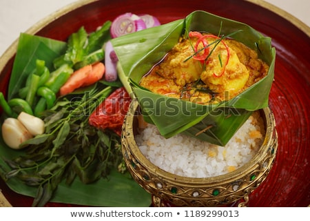 traditional cambodian spicy prawn amok curry Stock photo © travelphotography