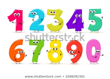 Kids with numbers and mathematics sign Stock photo © bluering