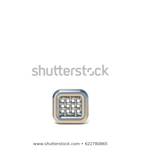 Metal wire mesh font PERIOD 3D Stock photo © djmilic