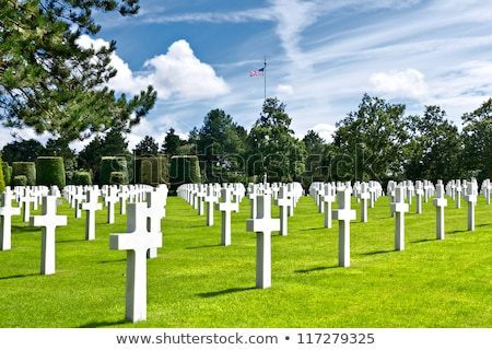 american cemetery colleville sur mer normandy france stock photo © kraskoff