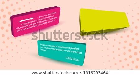 En demi-teinte bannière design trois différent couleurs Photo stock © SArts