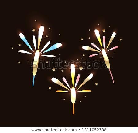 бенгальский огонь набор фейерверк изолированный Сток-фото © robuart