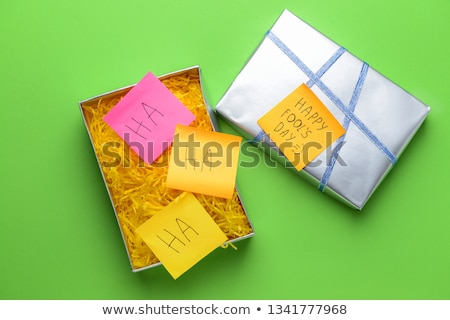 Scherzo regalo rosso mattone scherzo Foto d'archivio © devon