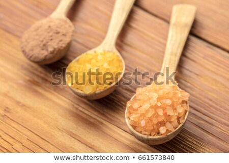 Spoons with phyto salt and clay  Stock photo © OleksandrO