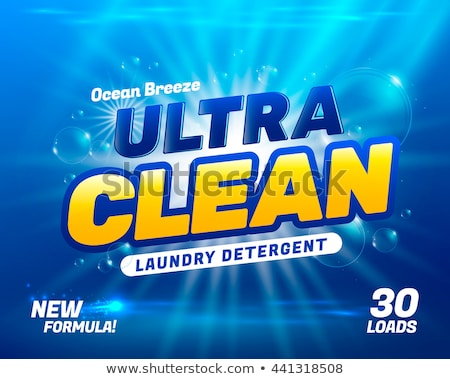 power wash laundry detergent packaging concept design with water Stock photo © SArts