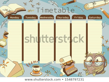 Times tables chart with colorful background Stock photo © bluering