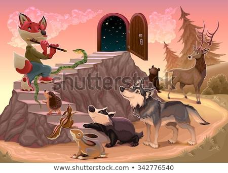 музыку страхом Fox играет флейта древесины Сток-фото © ddraw