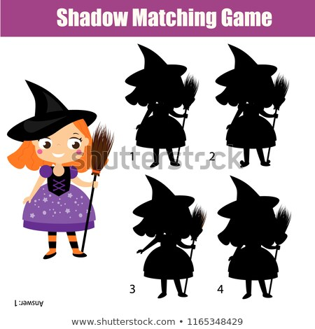 Shadow game with witch hats Stock photo © ratselmeister