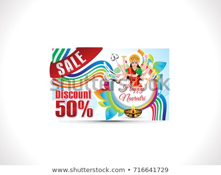 abstract artistic creative navratri discount card stock photo © pathakdesigner