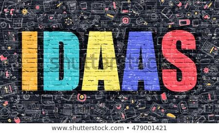 IDAAS in Multicolor. Doodle Design. Stock photo © tashatuvango