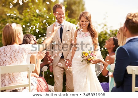 Couple Bride Groom Civil Wedding Stock photo © lenm