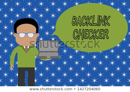 Backlink Checker on Laptop in Modern Workplace Background. Stock photo © tashatuvango