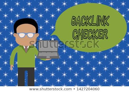 Backlink Checker on Laptop in Modern Workplace Background. Stock photo © tashatuvango