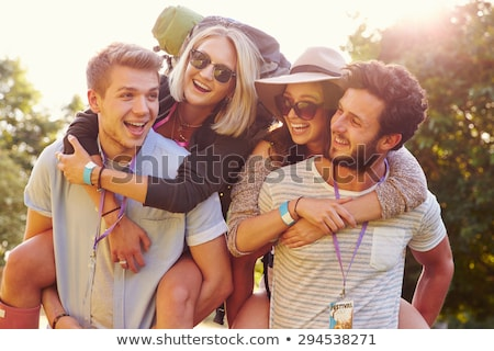 People at a festival,  backpacking tents Stock photo © IS2