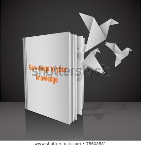 başlangıç · temeller · kitap · başlık · omurga · 3D - stok fotoğraf © tashatuvango