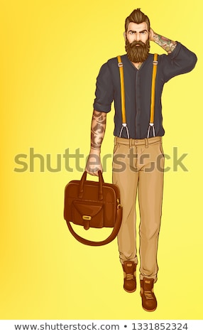 Homme Shopping douille mode Photo stock © IS2