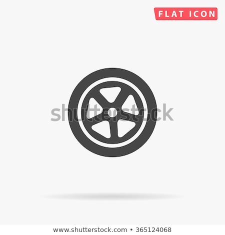 Foto stock: Autobús · rueda · icono · aislado · blanco · transporte