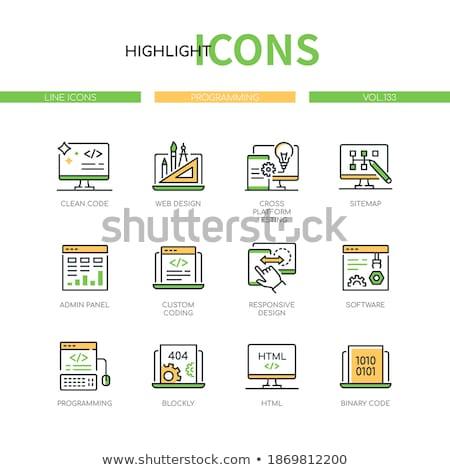 Laptop Screen with Custom Coding Concept. Stock photo © tashatuvango