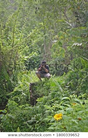 Man using dslr camera in the forest Stock photo © wavebreak_media