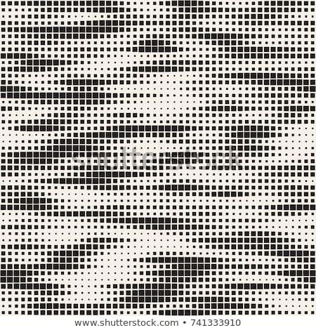 Repeating Rectangle Shape Halftone. Vector Seamless Monochrome Pattern Stock photo © Samolevsky