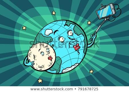 планете Земля луна пару телефон Сток-фото © rogistok