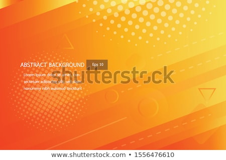 Orange Abstract Futuristic Backround Stock photo © molaruso