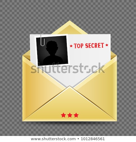 enveloppe · lettre · rouge · papier · star · joyeux - photo stock © romvo