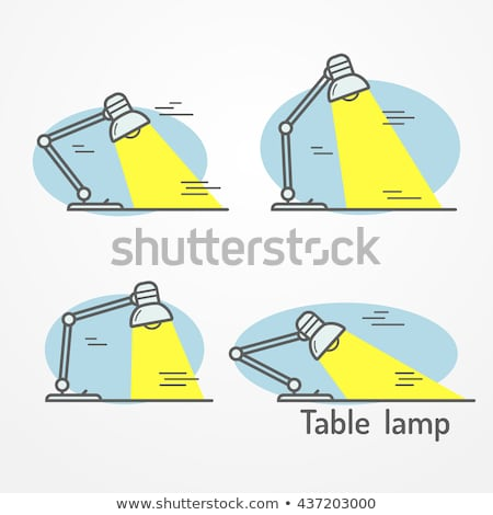 Adjustable vintage lamp icon in flat style Stock photo © studioworkstock