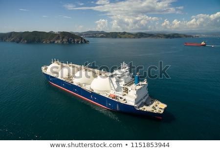 Erdgas stilisierten marine Transport groß Frachtschiff Stock foto © tracer