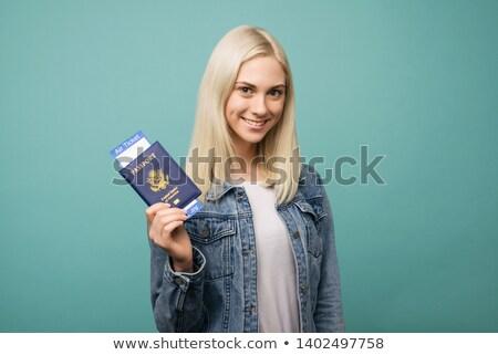 женщину паспорта самолет билеты лет Сток-фото © IS2