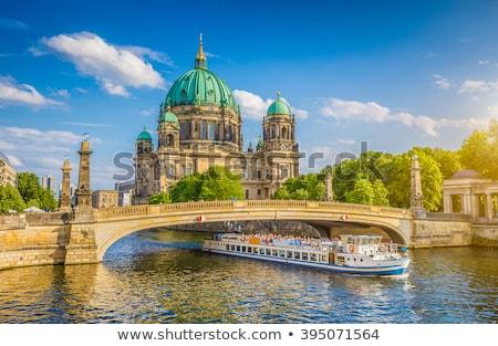 Berlin katedral gün batımı kilise Almanya Stok fotoğraf © benkrut