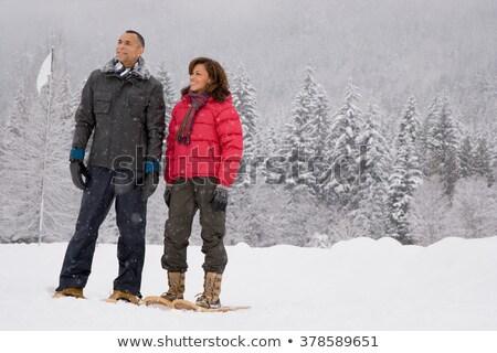 зрелый пару женщину человека горные синий Сток-фото © IS2