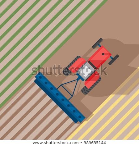 Trator campo fazenda preparação Foto stock © artjazz