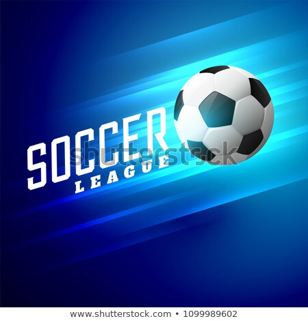 устрашающий синий футбола аннотация Мир Сток-фото © SArts