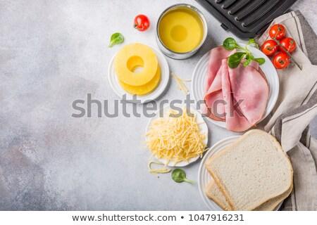 Stok fotoğraf: Malzemeler · ızgara · Hawaii · tost · sandviç