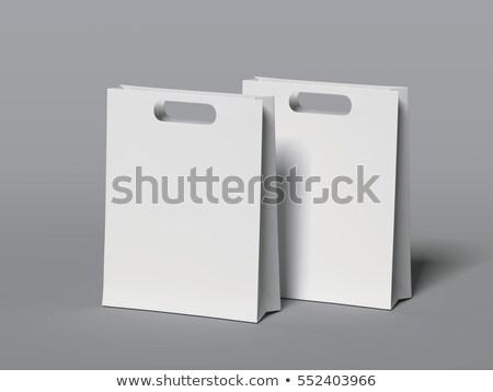 compras · supermercado · dois · 3d · render · cinza - foto stock © Mar1Art1