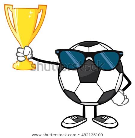 победителем футбольным мячом Солнцезащитные очки Сток-фото © hittoon