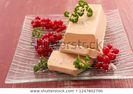 Rojo grosella fondo blanco Navidad comedor Foto stock © M-studio
