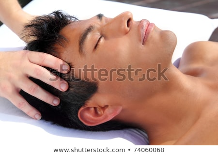 chakras third eye massage ancient Maya therapy Stock photo © lunamarina