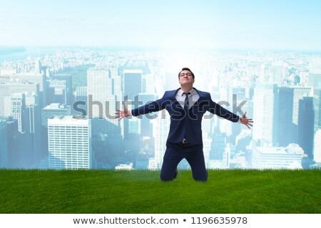 wesoły · udany · młody · człowiek · pomysł · sukces - zdjęcia stock © elnur