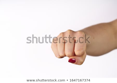 fist isolated punch hand on white background stock photo © popaukropa