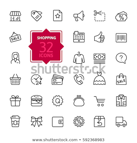 Vector shop opening icon set Stock photo © tele52