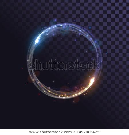 mavi · daire · hızlı · hareket · beyaz - stok fotoğraf © artida