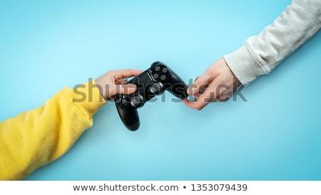 изображение · молодым · человеком · играет · Видеоигры · компьютер - Сток-фото © deandrobot