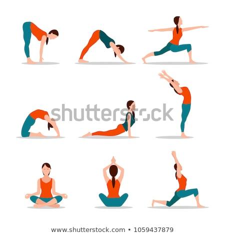 Mountain Arms Up Pose Yoga Vector Illustration Stock photo © robuart