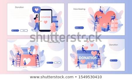 Adományoz poszter háló képernyő weboldal főcím Stock fotó © robuart