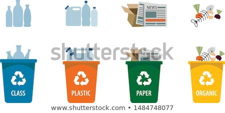 icon of trash box for organic waste color banner stock photo © robuart