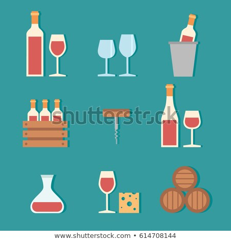 Sommelier Taste Red Wine Label Set of Web Posters Stock photo © robuart
