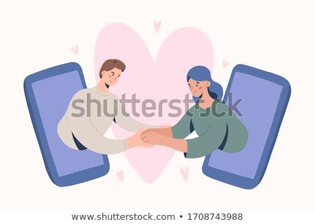 para · miłości · mąż · żona · retro - zdjęcia stock © rogistok