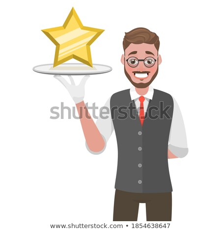 Waiter Man with Tray 3D Icon Vector Illustration Stock photo © robuart